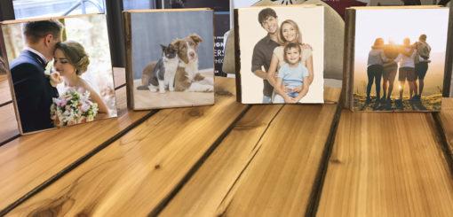 Photo on wood block