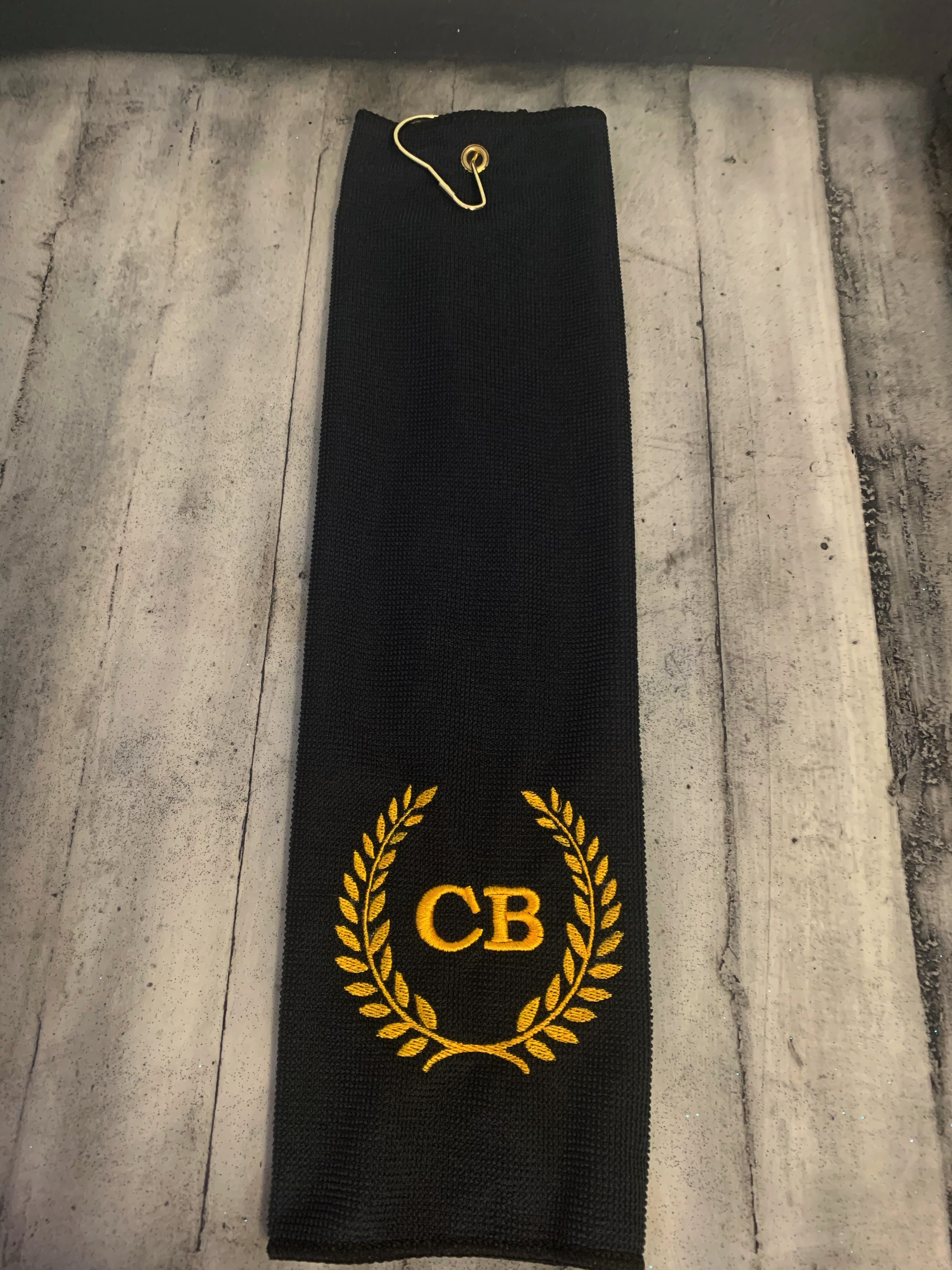 Microfiber Golf Towel – black