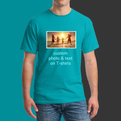 Custom Photo T-shirts – Add your photo + text